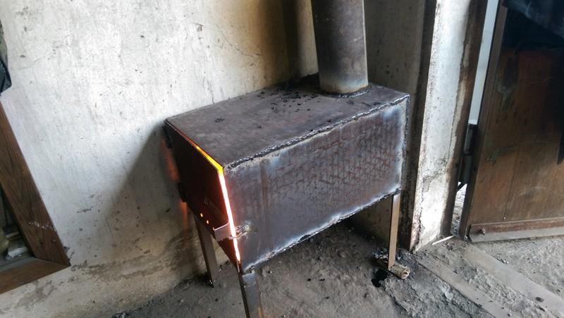 Металлическая печка своими руками чертежи